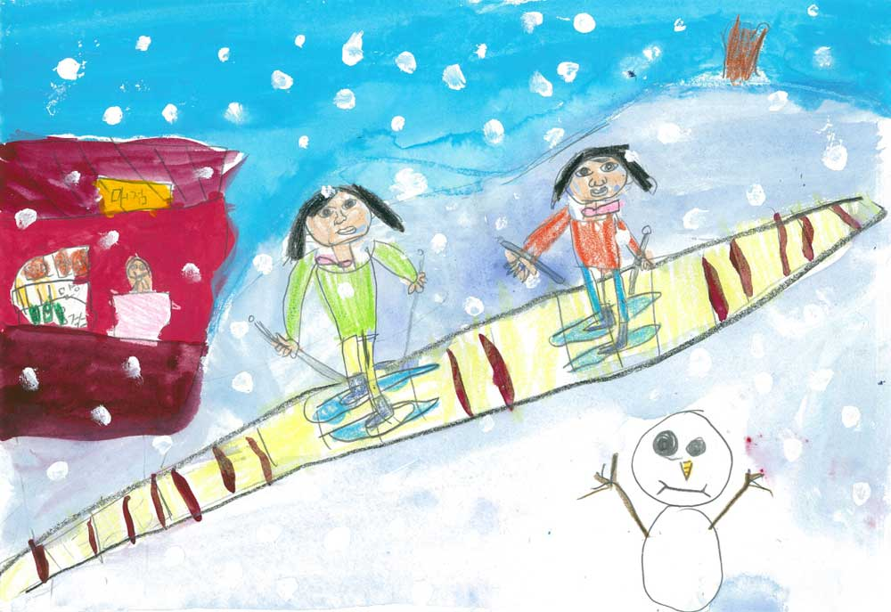 Ski Resort by GaHyeon Kim, DokJeong Primary School, Korea