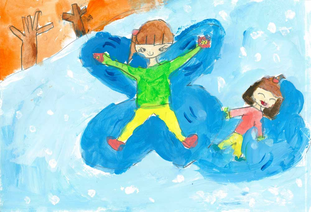 Snow Angel by HyeonJung Ku, DokJeong Primary School, Korea